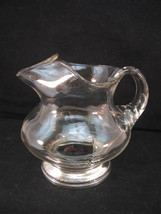 Sterling and Crystal Squat Pitcher Fabulous Shape Gadroon Base 3 Cup VFC - $22.72