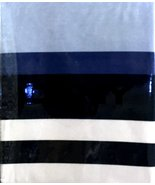 DKNY Urban Lines White Denim Blues/White Stripe Shower Curtain - $35.00