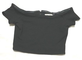 Alice + Olivia Womens Crop Top  Shirt Zippered Back Size xs - £22.37 GBP