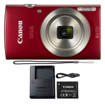 Canon IXUS 185 20MP 8X Optical Zoom 720p Video Compact Digital Camera Red - $104.70