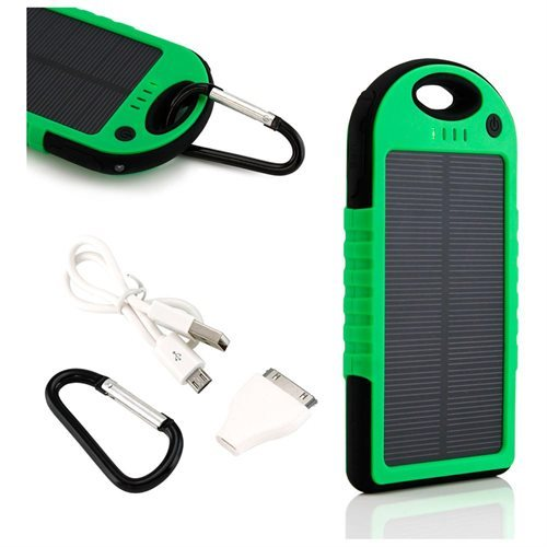 5000mAh Portable Shockproof Waterproof Solar Charger Battery Panal Double USB