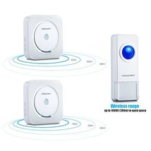 Sewing Homasy Wireless Doorbell Kit with 1000feet Over 50 Chimes 1 Push ... - $44.87