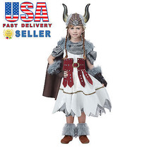 California Costume Viking Princess Girl Kid Child Halloween Cosplay Part... - $42.00