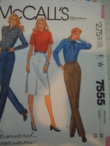 McCall's Misses Size 10 Jeans and Jeans Skirt Pattern # 7555  - $3.99