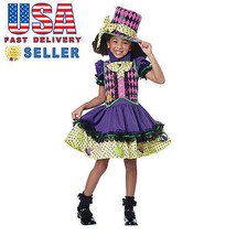 California Costume Deluxe Mad Hatter Girl Kid Child Halloween Cosplay 00534 - $29.00+