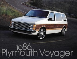1986 Plymouth VOYAGER brochure catalog 1st Edition US 86 LE SE - $6.00