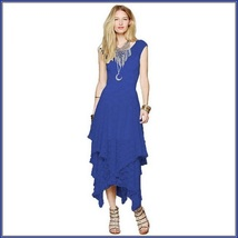 Bohemian Plus Size Sleeveless Tiered Sheer Layered Lined Lace Irregular Hem Gown image 1