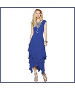 Bohemian Plus Size Sleeveless Tiered Sheer Layered Lined Lace Irregular ... - $96.95