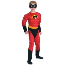 The Incredibles: Mr. Incredible Muscle Chest Child Costume Size 7-8 - $34.14