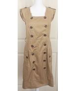 Moulinette Soeurs Anthropologie Khaki Safari Trench Military Shirt Dress... - $34.95