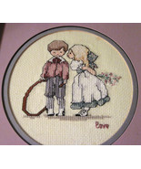 Finished Double Matted Framed Counted Cross Sti... - $24.74