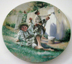 Whitewashing the Fence Collector Plate Tom Sawyer Knowles China Mark Twa... - $19.80