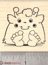 Halloween Monster Rubber Stamp, Four Eyed Alien H25805 WM - $13.95