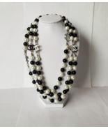 Faux Pearl Glass Beads Long Necklace - $128.25