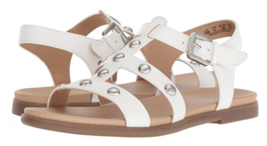 Naturalizer Davi Flat Comfort Sandals White w/Metal Stud Detail 9.5M NEW - $16.76