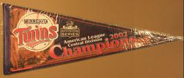 2002 Minnesota Twins AL Central Champions 30x12 Pennant - $7.99