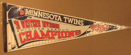 1991 Minnesota Twins Western Division Pinstripes 30x12 Pennant - $7.99