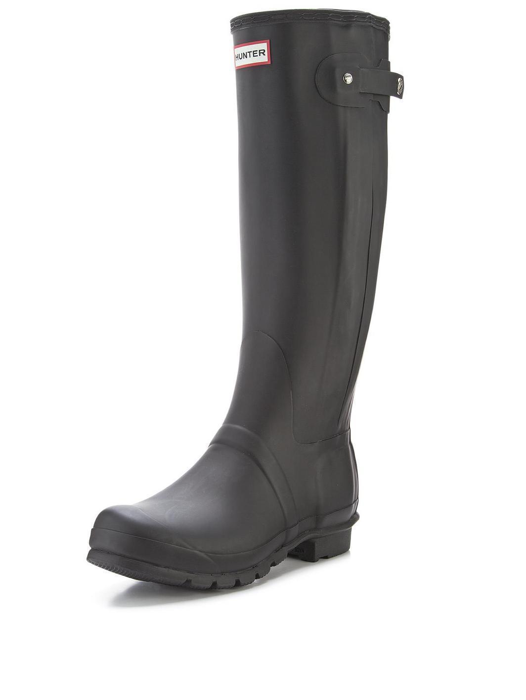Hunter Field Norris Side Adjustable Ladies Wellington Boot UK4 EU37 US6 Black O6eST