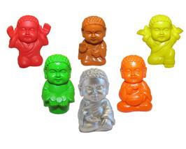Pocket Buddha Figurine Toy Blessed Heath Joyful Prosperity Serenity Prai... - $24.99