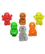 Pocket Buddha Figurine Toy Blessed Heath Joyful Prosperity Serenity Prai... - $24.99
