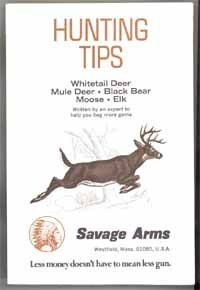 Hunting Tips vintage Savage Arms Co brochure 1983 sporting collectible