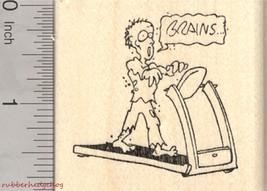 Zombie Apocalypse Trap Rubber Stamp, Treadmill ... - $13.95