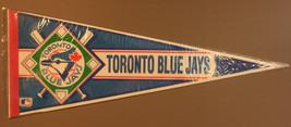 Vintage 80s/90s Wincraft Toronto Blue Jays Bats 30x12 Pennant - $4.99