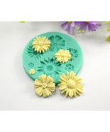 Daisy Silicone Mold, Sunflower Silicone Mold, Flower Silicone Mold, Bouq... - $9.99
