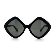Womens Oversized Diamond Frame Sunglasses Designer Fashion - £5.98 GBP
