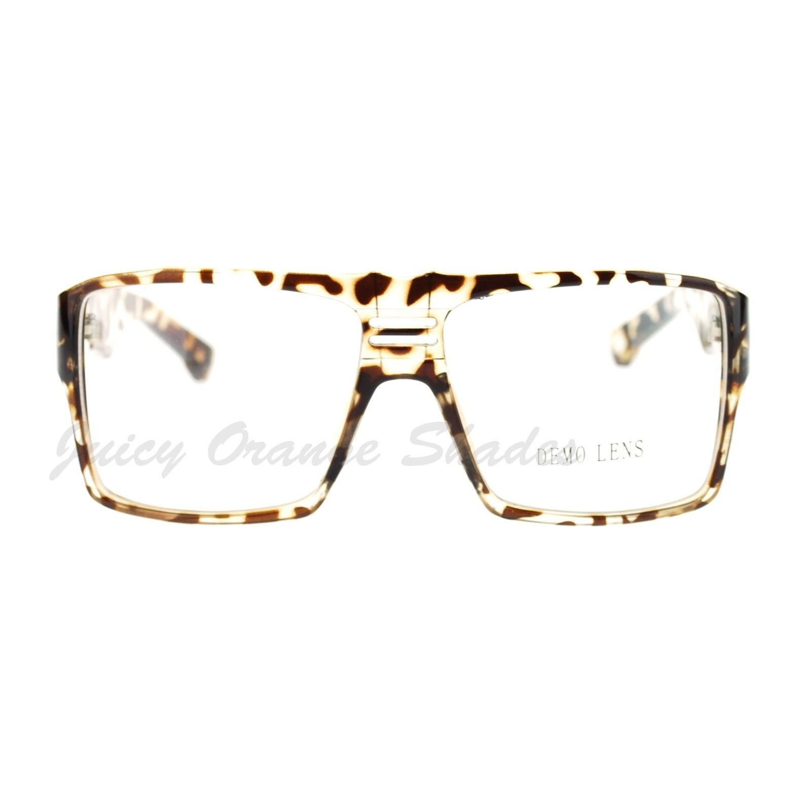Super Nerd Clear Lens Eyeglasses Boxy Square Frame Glasses