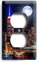 NEW YORK CITY MANHATTAN NIGHT SKYLINE STARS MOON DUPLEX OUTLET COVER PLA... - $8.09