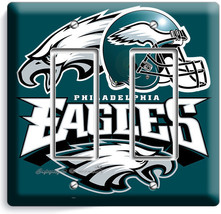 Philadelphia Eagles Football Double Gfci Light Switch Plate Boys Room Man Cave - $11.69