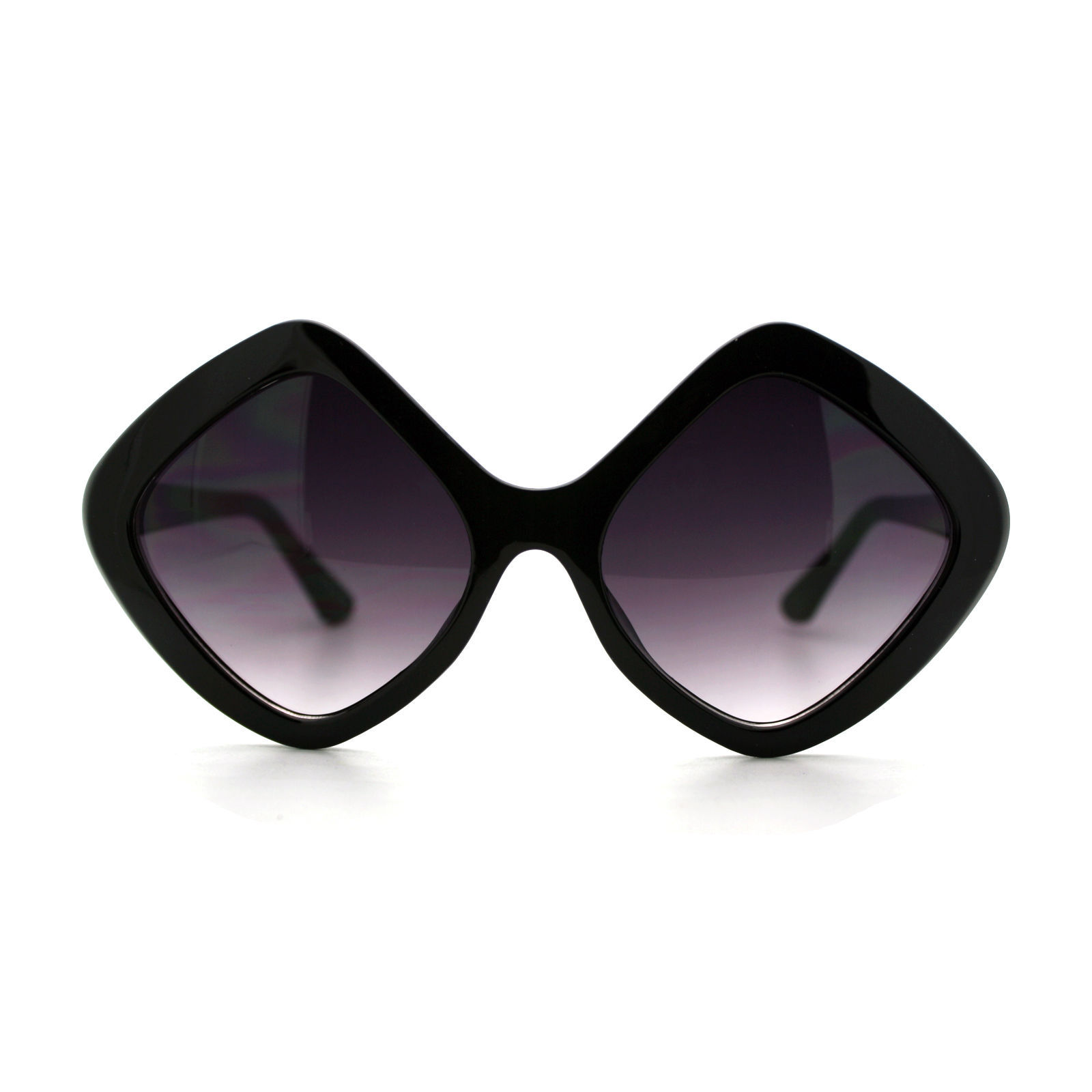 Womens Oversized Diamond Frame Sunglasses Designer Fashion