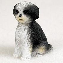 SHIH TZU BLACK WHITE  TINY ONES DOG Figurine St... - $8.99