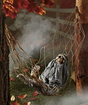 Interactive Skeleton in Hammock Spooky Halloween Decoration Sound Activated - £48.78 GBP