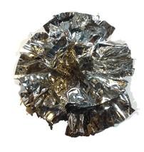 "25 Car Limo wedding Decoration Plastic Pom Poms Flower 4""  - metallic silver - $5.93"
