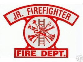 Junior Firefighter Highly Reflective Fire Department Decal - $2.72