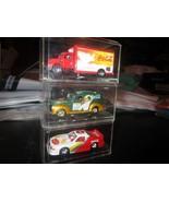 Coca-Cola Race Car Truck Car in Acrylic Cases - $9.79