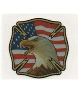 AMERICAN EAGLE - MALTESE CROSS FLAG Full Color Highly Reflective Decal - $1.93
