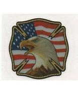 "AMERICAN BALD EAGLE - MALTESE CROSS U.S. FLAG  Highly Reflective 4"" x 4""... - $4.46"