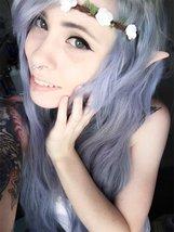 Halloween Party Latex Fairy Pixie Elf Ears - One Pair w/Random Color and Design image 2