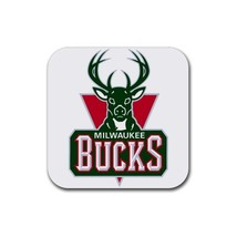 Milwaukee Bucks NBA Team Logo  Rubber Square Coaster (4 pack) - $7.99