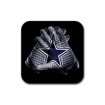 Dallas Cowboys NFL Team Logo and Gloves Rubber Square Coaster (4 pack) - $7.99