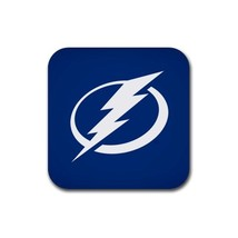 Tampa Bay Lightning NHL National Hockey League Rubber Square Coaster (4 ... - $160,30 MXN