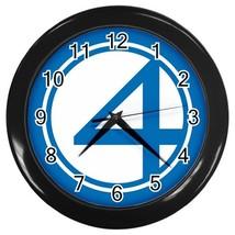 Fantastic Four Superhero Logo Wall Clock (Black) - $23.99