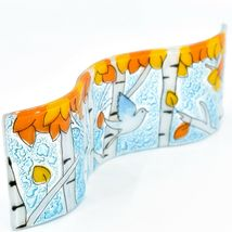 Fused Art Glass Bluebird Fall Aspen Tree Wavy Decor Sun Catcher Handmade Ecuador image 5