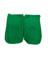 Vintage GUCCI green dust bags pair (set of 2) 15 X 9 travel shoes storage  - $38.80