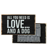 "All You Need is Love and a Dog Box Sign Stamp Primitives by Kathy 2.75"" ... - $9.99"