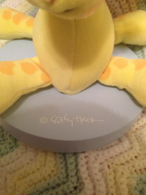 "Weird Cuddly Noah ""Nursery Lamp"" Plush Giraffe NOT FOR CHILDREN Dolly Cathy Heck"