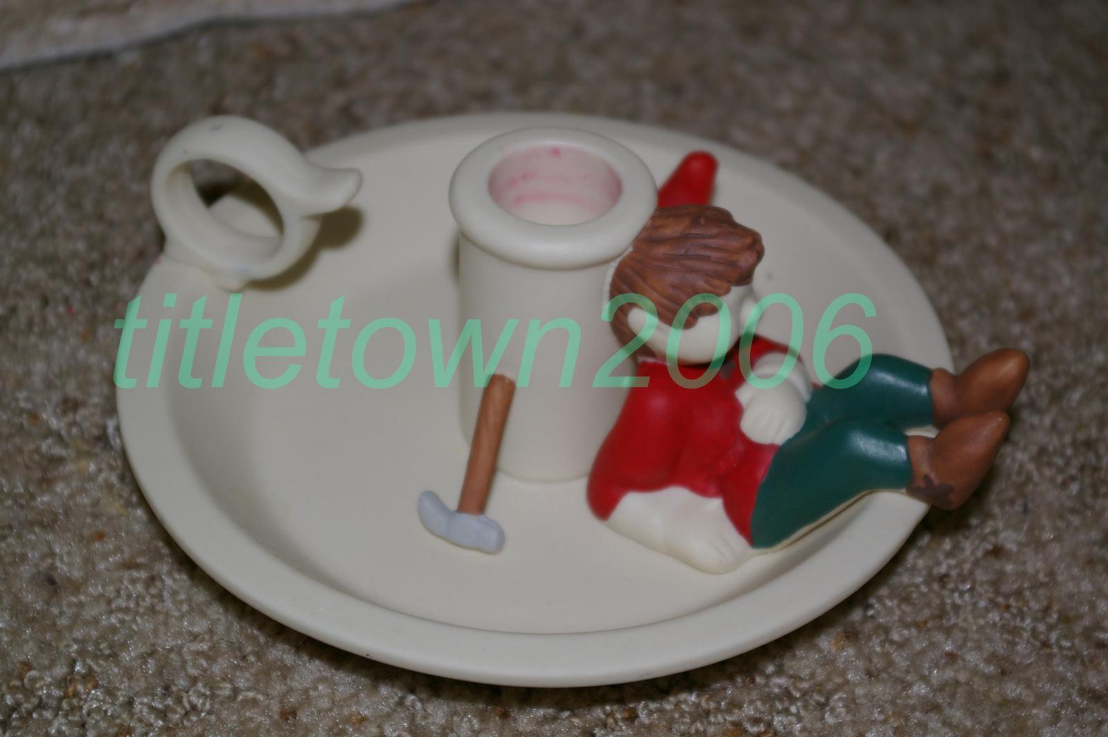 PartyLite Santa's Elf Taper Holder Party Lite
